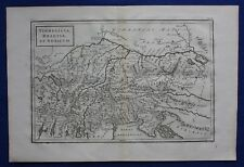 Original antique map 'VINDELICIA, RHAETIA ET NORICUM', AUSTRIA, Cellarius, 1799