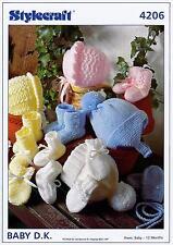 Stylecraft Wondersoft DK Knitting Pattern 4206 (prem - 12months)