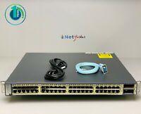 Cisco WS-C3750E-48TD-E 48 Port Gigabit Switch 1 YEAR WARRANTY - SAMEDAYSHIPPING