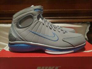 New Nike Air Zoom Huarache 2k4 MPLS Shoes Wolf Grey University Blue Size 14