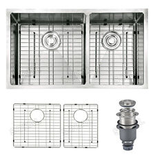 Sokal 33 inch Stainless Steel Kitchen Sinks W/ Double Bowls Free Grid