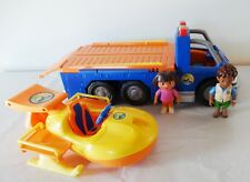 NICK JR GO DIEGO GO Speed Boat and big truck Carrier with sound/lights RARE