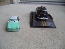 "Pair of Disney Pixar Cars - ""Sheriff"" and Green ""D.REAM"" Car Die Cast Car"