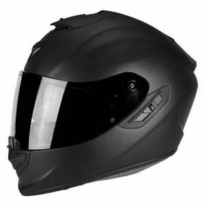 Scorpion EXO 1400 Air Matt Black Full Face Motorcycle Motorbike Helmet