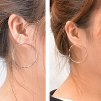 Fashion Women Jewelry Elegant Geometric Round Circle Hoop Ear Stud Earrings