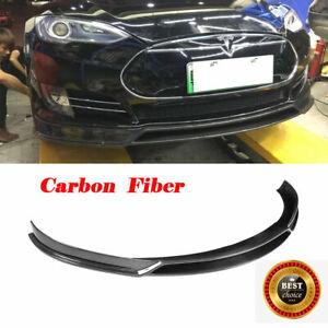 Fit for Tesla Model S 2012-2015 Carbon Fiber Front Bumper Lip Spoiler Factory