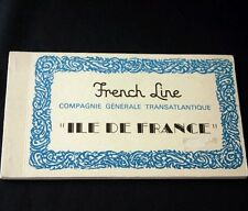 CGT FRENCH LINE SS ILE DE FRANCE 10 Postcard Book
