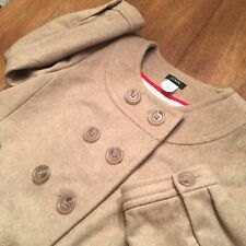 J Crew PIPPA Double Breasted Tan Wool Cashmere Pea Coat 3/4 Sleeve Size 2