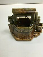 Vintage McCoy Pottery Glazed Ceramic Wishing Well Planter with Chain Nice Color