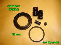 Brake Caliper 43mm Cylinder Repair Kit D4632 for Hyundai Santa Fe Terracan Rear