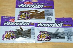 "3 bags berkley powerbait maxscent flat worm 3.6"" drop shot assortment #2"