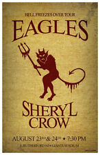 Eagles & Sheryl Crow New Jersey Giants Stadium 1994 Gig Concert Poster