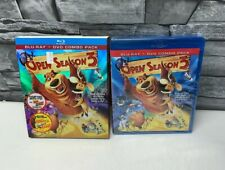 OPEN SEASON 3 BLU-RAY & DVD COMBO INCLUDES SLIPCOVER BRAND NEW FAST SHIPPING