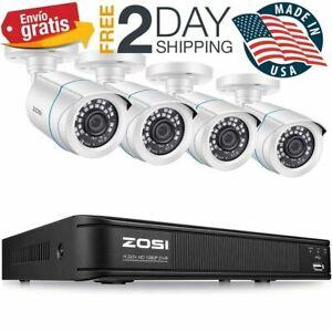 4 Camaras de Seguridad Sistema Vigilancia Vision Nocturna Impermeable HD 1080P+