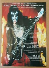 Gene Simmons Bass Guitar Press Ad Kiss Psycho Circus
