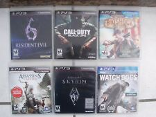 Lot Of 6 PLAYSTATION 3 PS3 Video Games Resident Evil Skyrim assassins Creed #+