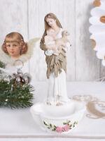 Weihwasserschale Jugendstil Madonna mit Jesuskind Weihwasserbecken Antik Figur