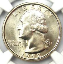 1992-P Washington Quarter 25C - NGC MS67 - Rare Date in MS67 Grade - $750 Value!
