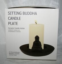 SITTING BUDDHA CANDLE PLATE ~ BRAND NEW IN BOX ~ PERFECT FOR PILLAR CANDLES