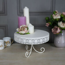 cream metal cake stand kitchen accessories baking country style vintage ornate