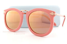 114dacae3a9 Brand New KAREN WALKER Sunglasses Super Lunar Rose Pink Champagne Mirror  1601435