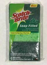3M Scotch Brite,Soap Filled Heavy Duty Scrub Sponges 6 Pack, Sealed
