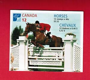 1999  CANADIAN  HORSES CANADA STAMPS  BOOKLET  # 1795 to 1798  BK220   OC20