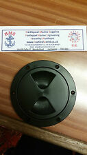 """2x Inspection Cover ,Plastic,152mm (6"""") Bore, Black Boat/Yacht/Cruiser/Ship"""