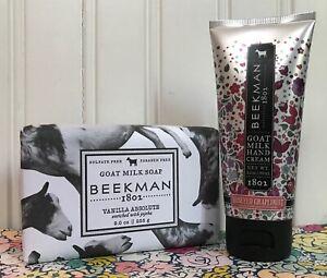 BEEKMAN 1802 VANILLA ABSOLUTE SOAP 9 OZ & HONEYED GRAPEFRUIT HAND CREAM 2 OZ