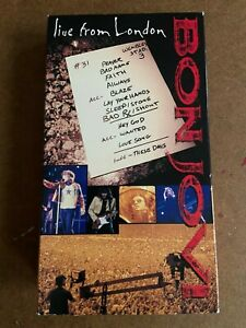 Bon Jovi - Live From London 1995 Rare VHS Hair Metal