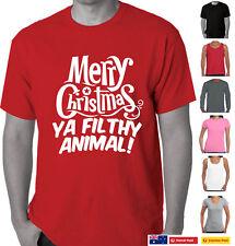Funny T-Shirts Merry Christmas Ya filthy Animal Xmas Aussie Store Santa Gift Tee