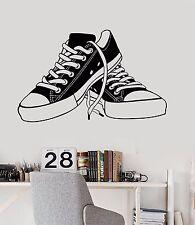 Vinyl Wall Decal Sneakers Teenager Shoes Shoe Shops Teen Room Stickers (726ig)