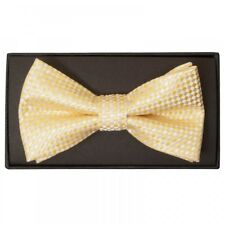 Gold Diamond Neat Mens Bow Tie Dickie Bow Wedding Bow Tie Textured Bow Patterned
