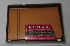 CROSS FOLDED CARD CASE BRITISH TAN LEGACY LEATHER COLLECTION GROOMSMEN GIFT NWT