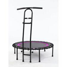Joka Fit Trampolin Cacau Indoor Fitnesstrampolin mit Griffstange schwarz pink