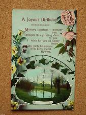 German Printed Birthday Collectable Greeting Postcards