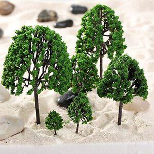 11pcs Assorted Tree Model Train Park Railway Diorama Scenery Layout O Scale 1:50