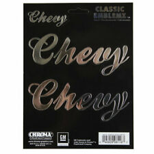 Original Chevy Chevrolet Script Classic Emblem Aufkleber Decal Sticker Chrom 3St