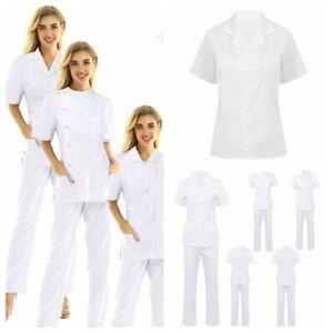 Men Women Scrubs Suit Medical Hospital Nurse Uniform Doctor Surgical Workwear