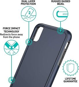 iPhone XS Case Blue Slim easy to hold - Pelican Adventurer Navy Blue Gray