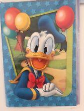 Carte Anniversaire Disney EN RELIEF Donald Enveloppe Illustrée