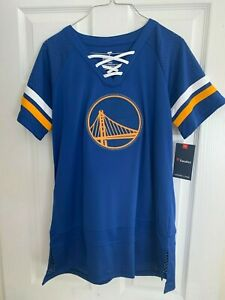 Golden State Warriors Fanatics Branded Women's Draft Me Lace Up T-Shirt -Blue