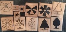 """Stampin' Up! """"Two-Step Stampin' Shapes & Shadows"""" Set Of 12 Stamps (2004)"""