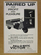 1963 Victor BALL-O-MATIC Golf Range Machine ELECTRI-CAR Golf Cart vintage Ad