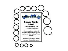 Spyder Sonix 2005 Paintball Marker O-ring Oring Kit x 4 rebuilds / kits