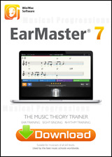 Earmaster 7 - Win Mac Digital Software - Master Ear Training - Music Theory NEW