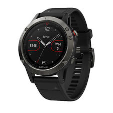 New Garmin Fenix 5 Slate Gray with Black Band GPS Multisport Watch, Expedited