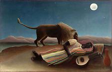 Henri Rousseau The Sleeping Gypsy Giclee Canvas Print size 24x36