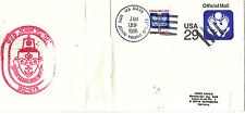 USS JOHN YOUNG DD 973 DESTROYER OFFICIAL CACHED COVER
