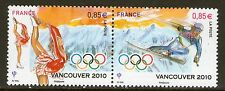 TIMBRES 4436-4437 NEUF XX  LUXE - JEUX OLYMPIQUES D'HIVER DE VANCOUVER CANADA